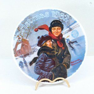 Norman Rockwell Decorative Plate Christmas